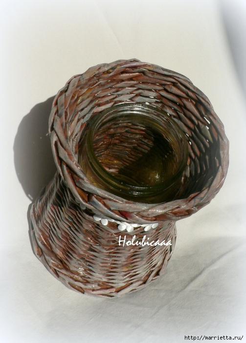 Плетение из газет. Очередная подборка идей для вдохновения (31) (503x700, 264Kb)