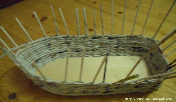 Парусник из газетных трубочек. Плетение (4) (599x349, 93Kb)