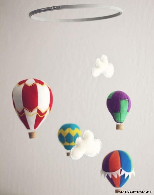 Воздушные шары из фетра для детского мобиля (2) (528x667, 109Kb)