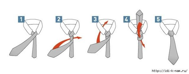 Как завязать галстук селедку пошагово