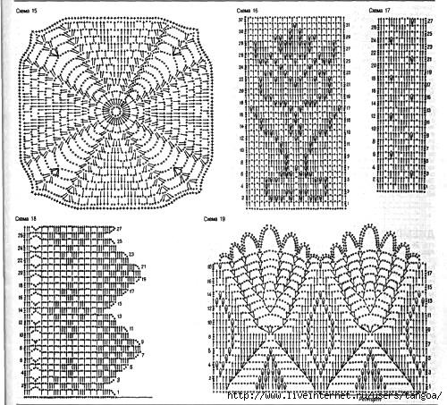 Комбинирование ткани и вязания спицами схемы 15