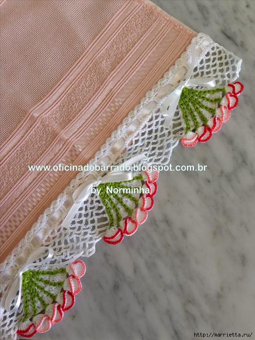 Обвязка крючком для полотенца. Схемы (1) (525x700, 326Kb)