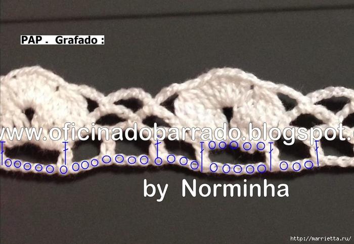 Обвязка крючком для полотенца. Схемы (10) (700x482, 235Kb)