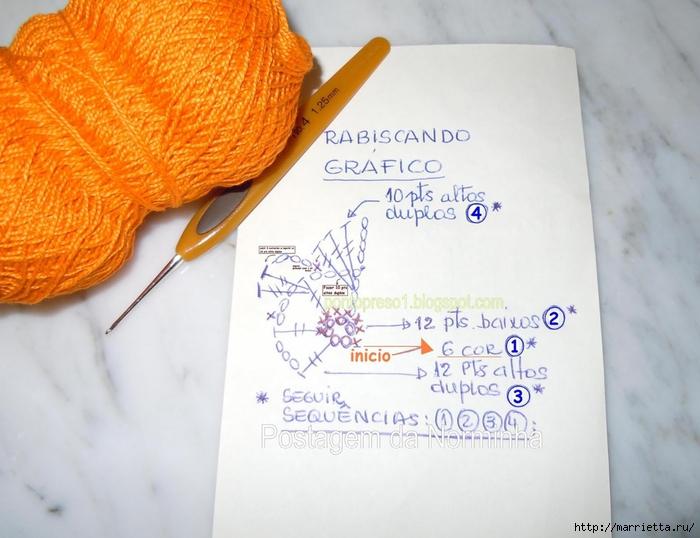 Обвязка крючком для полотенца. Схемы (16) (700x538, 241Kb)