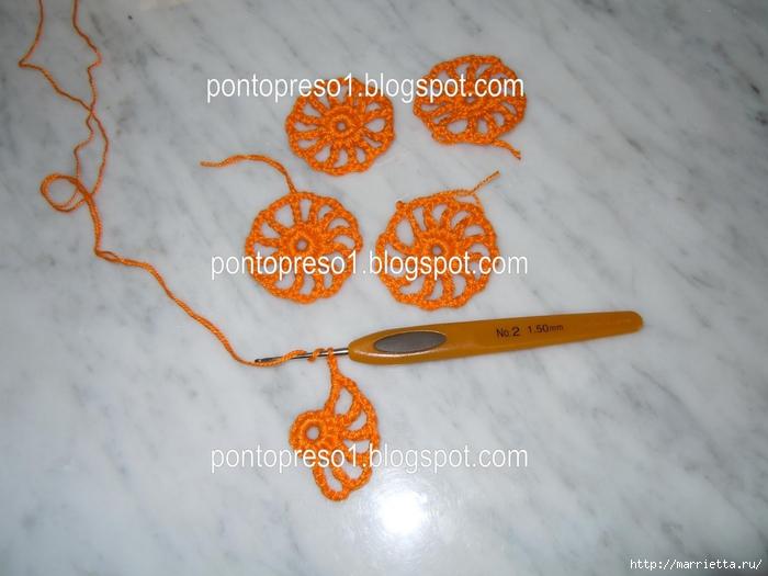 Обвязка крючком для полотенца. Схемы (19) (700x525, 207Kb)