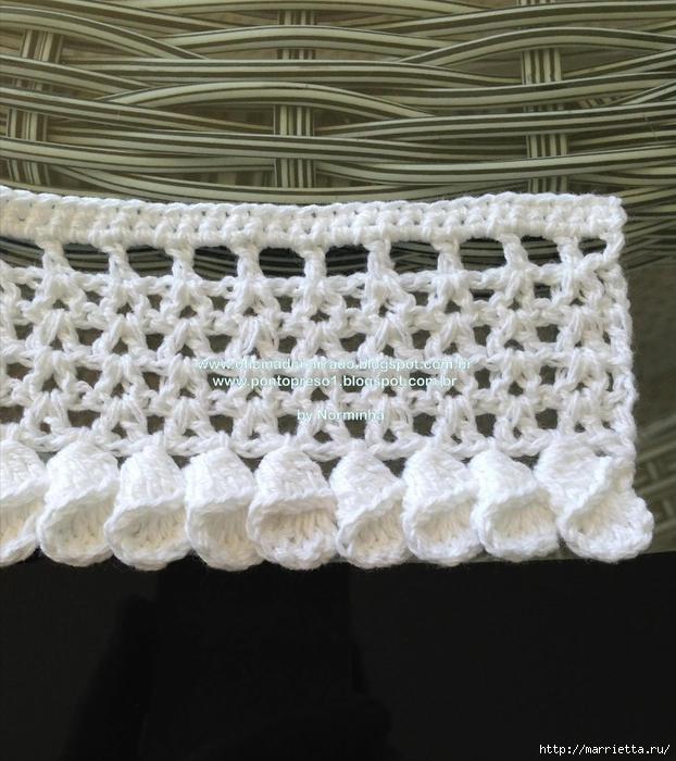 Обвязка крючком для полотенца. Схемы (22) (622x700, 313Kb)