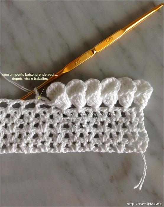 Обвязка крючком для полотенца. Схемы (24) (555x700, 275Kb)