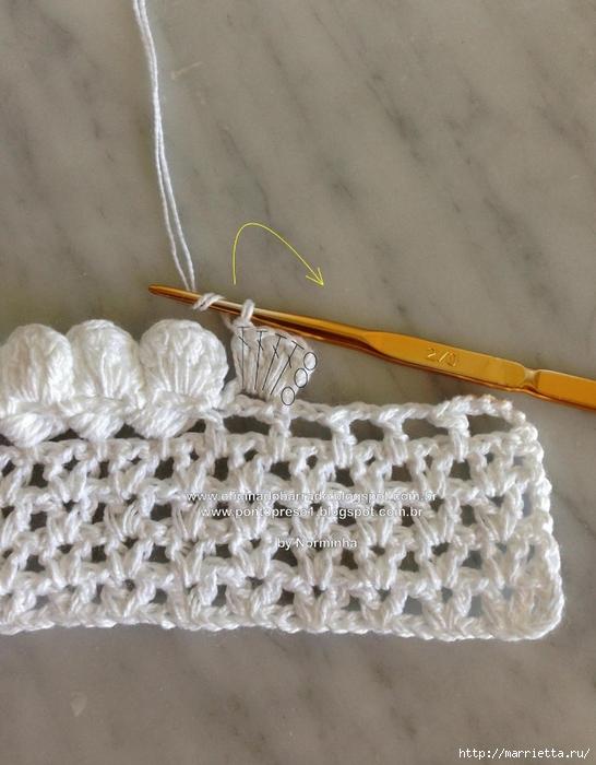Обвязка крючком для полотенца. Схемы (25) (546x700, 262Kb)