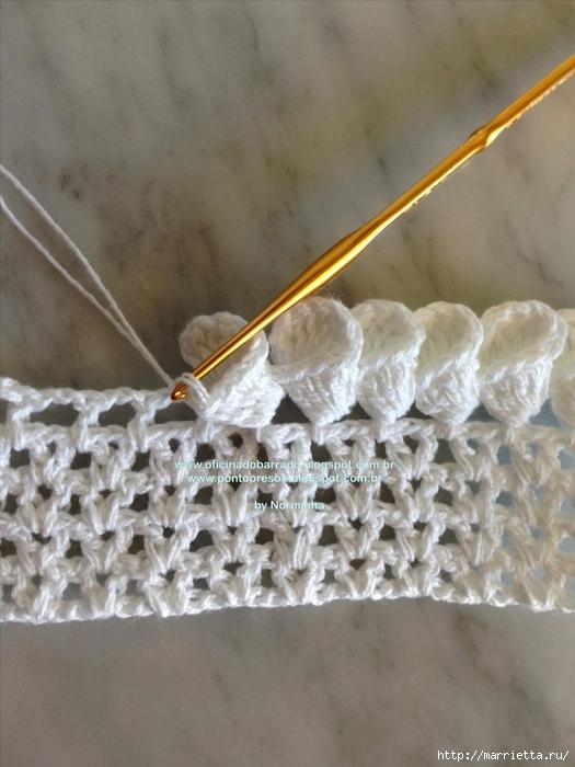 Обвязка крючком для полотенца. Схемы (28) (525x700, 255Kb)