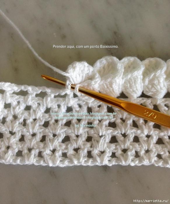 Обвязка крючком для полотенца. Схемы (29) (583x700, 272Kb)