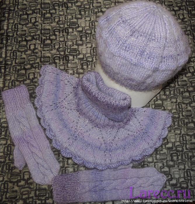 Комплект шапочка, манишка, варежки 001 (668x700, 466Kb)