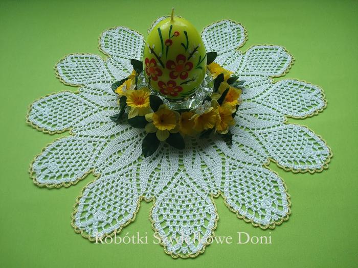 Вязание крючком. Салфетка в форме цветка ромашки (1) (700x525, 423Kb)