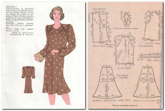 Модные платья для женщин с выкройками