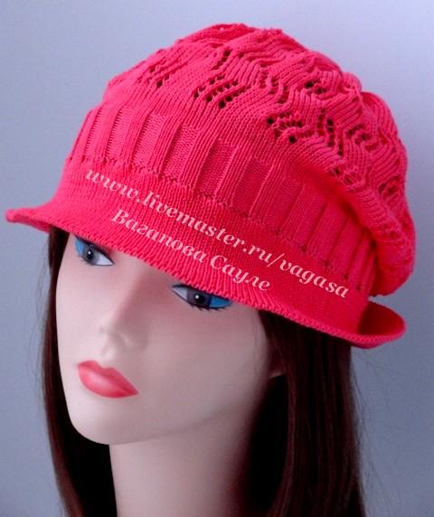 летняя ажурная шляпка на заказ