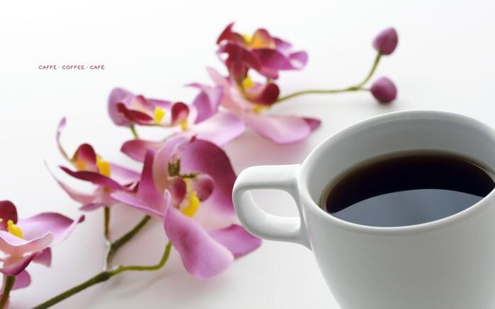 Картинки кофе и цветы 5
