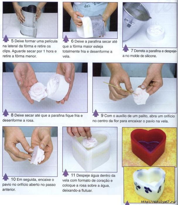 Свечи своими руками с инструкцией
