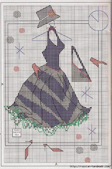 Вышивка крестом. Дамочки в платьях (1) (463x700, 366Kb)