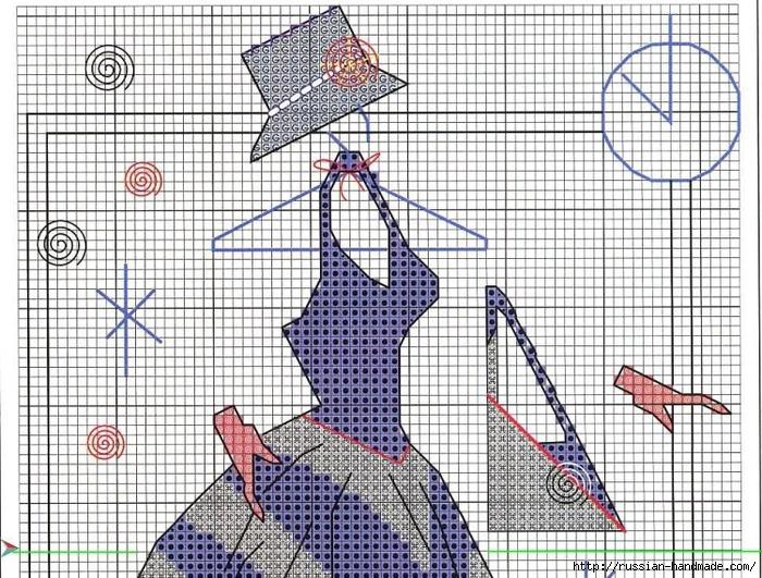 Вышивка крестом. Дамочки в платьях (14) (700x531, 398Kb)
