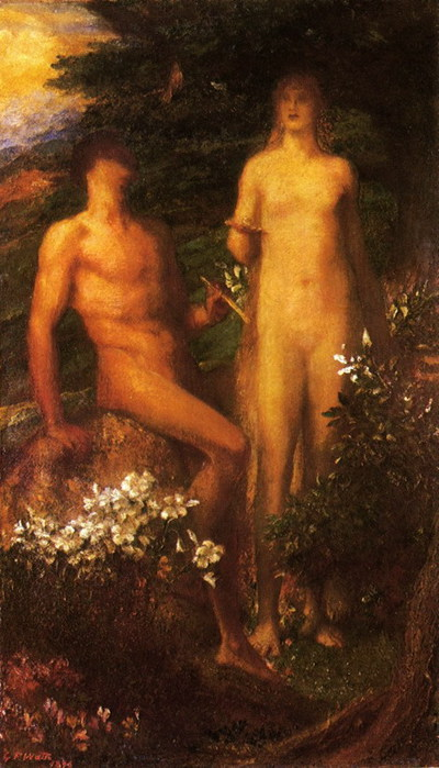 Adam and Eve before the Temptation (400x700, 88Kb)
