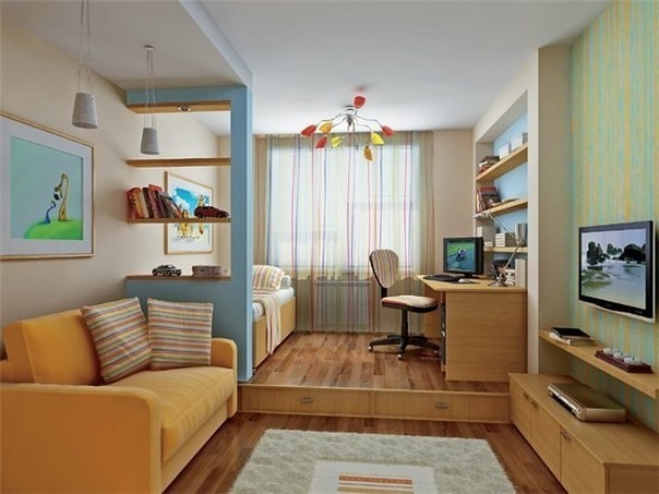 дизайн маленьких квартир (4) (604x453, 132Kb)