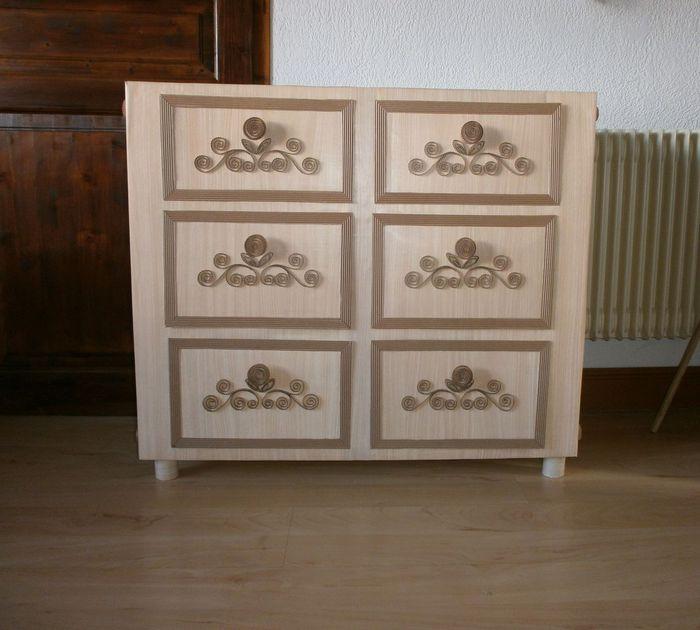 Комод из картонных коробок своими руками мастер класс 26