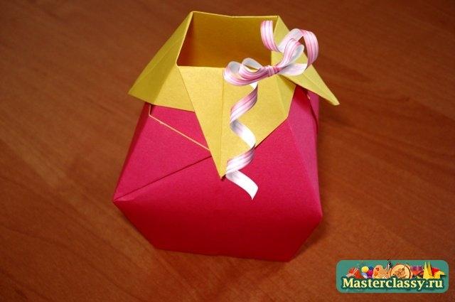 ваза из оригами своими руками