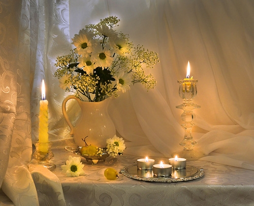 Натюрморт со свечами1 (500x407, 155Kb)