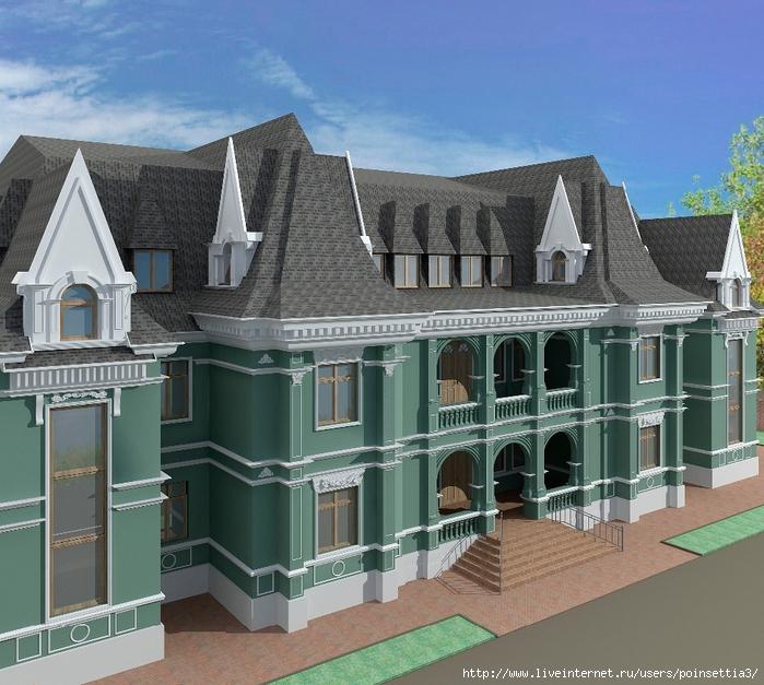 3.Вид на здание с левого угла (700x627, 360Kb)