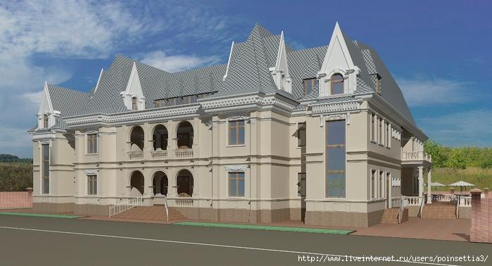 4.Вид на здание с правого угла.Вариант окраски здания (700x378, 210Kb)