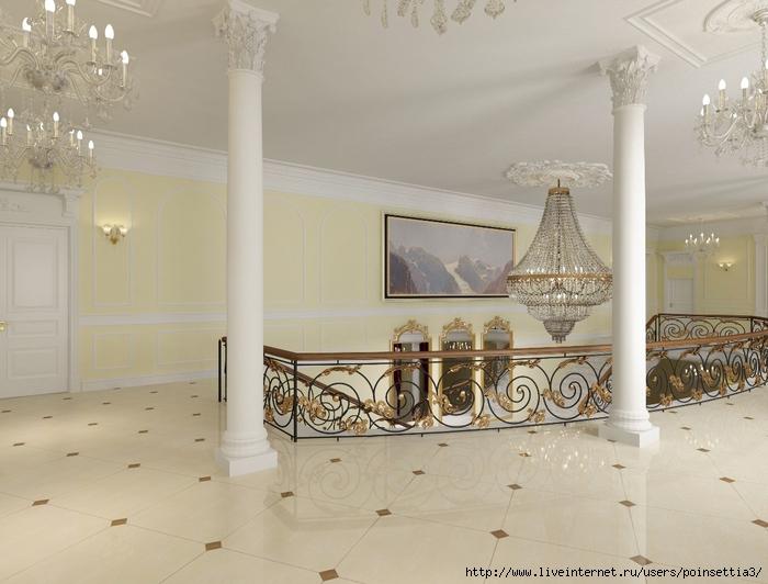 Холл2 этажа с боковой лестници (700x532, 246Kb)
