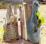 сумка своими руками, вязание для женщин, вязание, вязание спицами, вязание крючком, пляжная сумка.