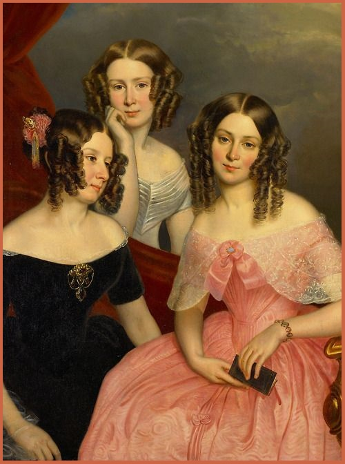 The Three Robsinson Sisters - George Theodore Berthon. 1846. (500x672, 88Kb)