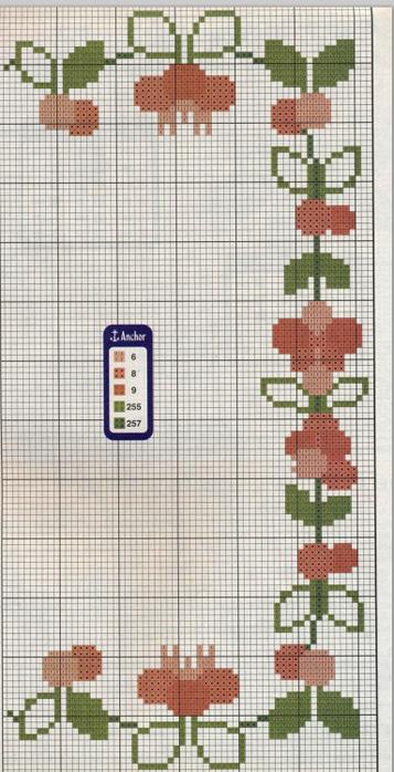 Цветочная вышивка крестом. Схемы (2) (357x700, 472Kb)