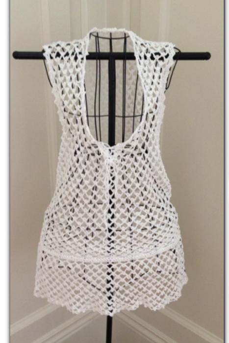 Вязание крючком пляжного платья
