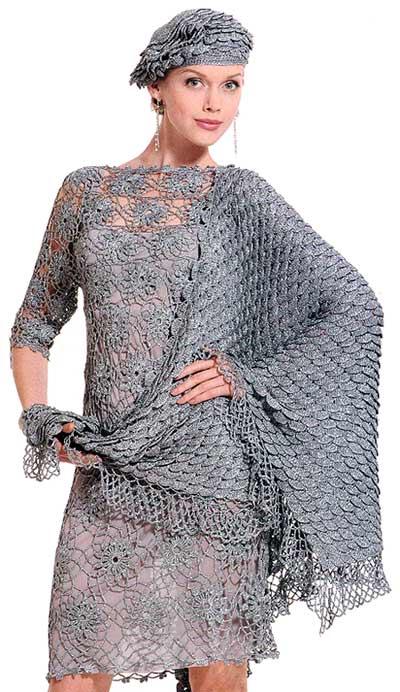 ажурное платье крючком1  (400x692, 57Kb)