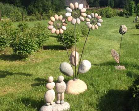 Дачные поделки своими руками из камней