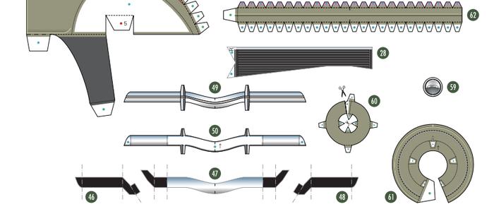 Кабриолет Ford из бумаги. Готовые шаблоны для распечатки (4) (700x313, 99Kb)