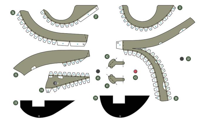 Кабриолет Ford из бумаги. Готовые шаблоны для распечатки (8) (700x419, 123Kb)