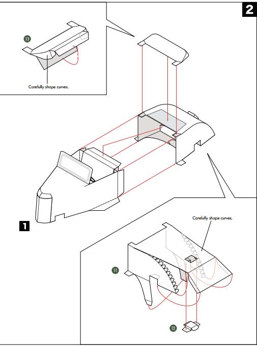 Кабриолет Ford из бумаги. Готовые шаблоны для распечатки (13) (505x680, 61Kb)