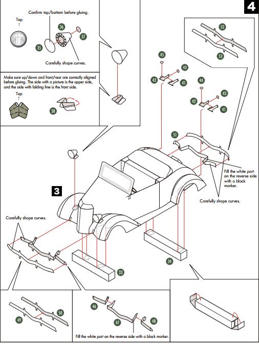 Кабриолет Ford из бумаги. Готовые шаблоны для распечатки (15) (506x673, 101Kb)