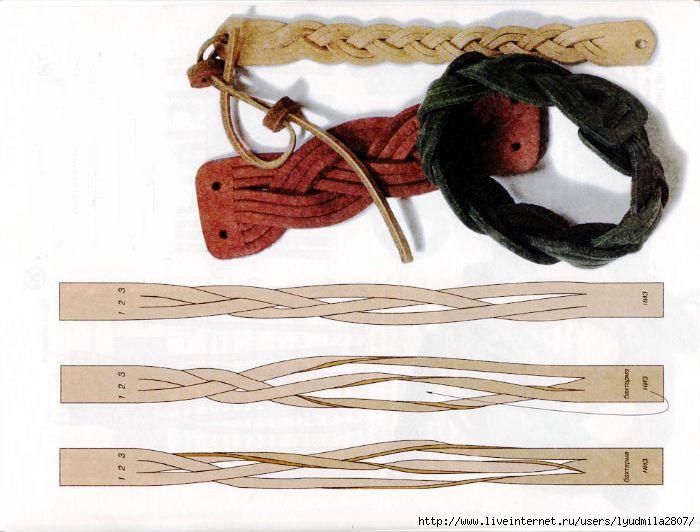 Плетение кожаного браслета своими руками 872