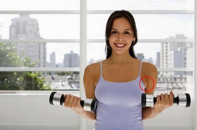 убрать жир под мышками упражнения дома
