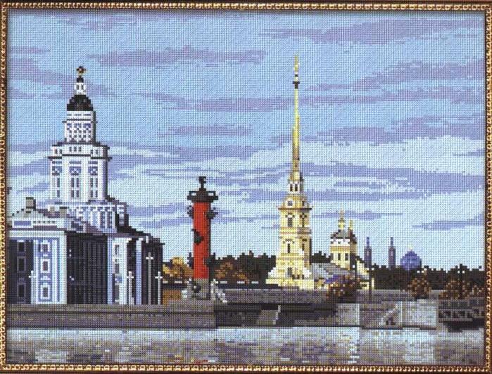 Петербург (схемы для вышивки)