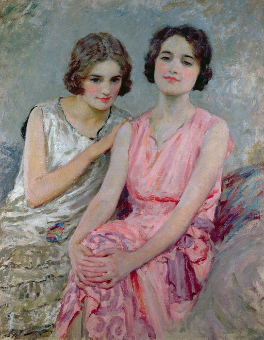 two-young-women-seated_william-henry-margetson (544x700, 151Kb)