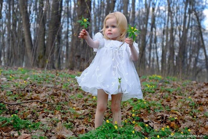 Застенчивая девочка - Весна Приходит в марте в платьице коротком.