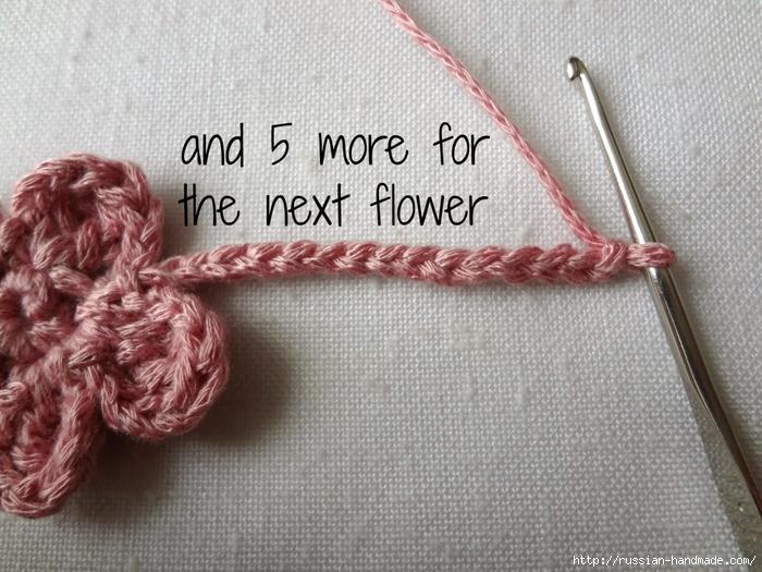 Вязание крючком. Маленькие цветочки для украшения волос (4) (700x525, 305Kb)