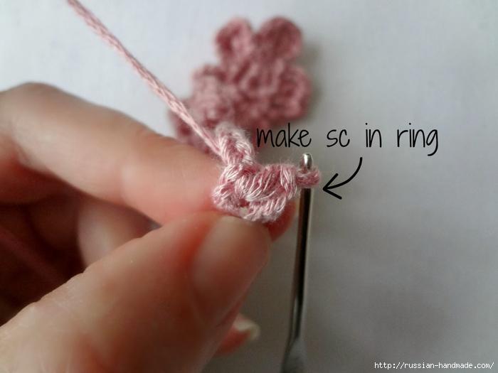Вязание крючком. Маленькие цветочки для украшения волос (6) (700x525, 171Kb)