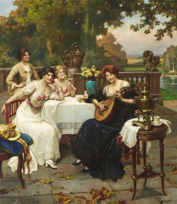 Wilhelm Menzler Casel (1846-1926)Musical entertainment on the Terrac (608x700, 74Kb)