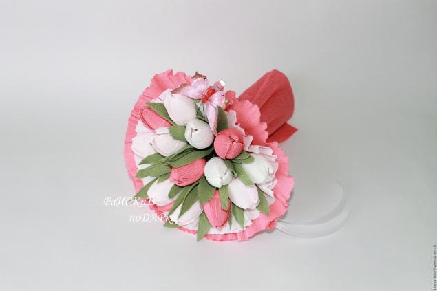 Тюльпаны своими руками из бумаги и конфет