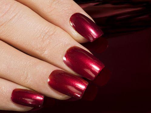 Красные ногти как увеличить ногти
